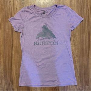 Women's purple burton t-shirt